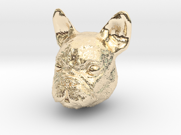 Dog in 14K Yellow Gold