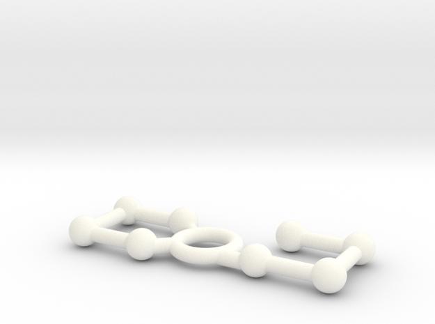 鑰匙扣2號 in White Strong & Flexible Polished