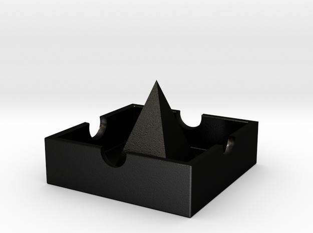 Castle ashtray in Matte Black Steel