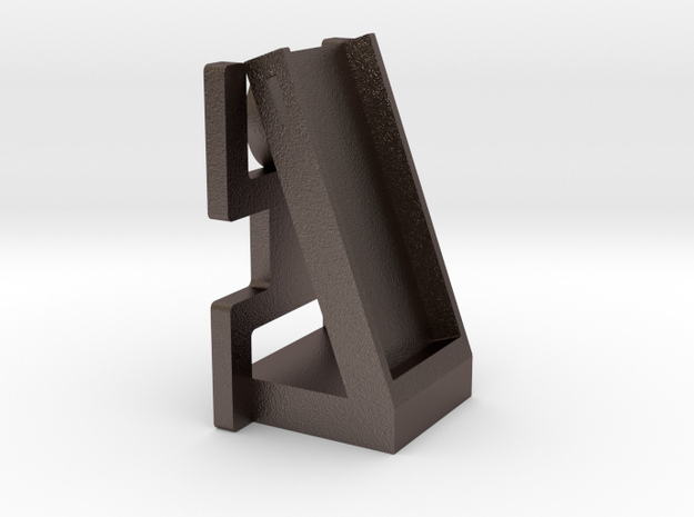 Phone Holder in Polished Bronzed Silver Steel