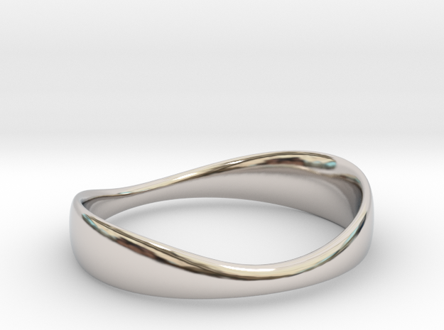 Silverflow Ring 16mm in Rhodium Plated