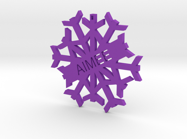 AIMEE Snowflake Christmas Tree Decoration in Purple Strong & Flexible Polished