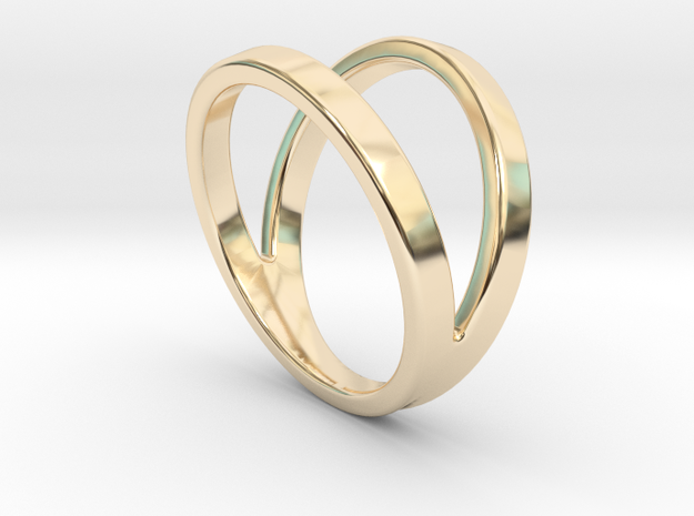 Split Ring Size US 9.5 in 14k Gold Plated Brass