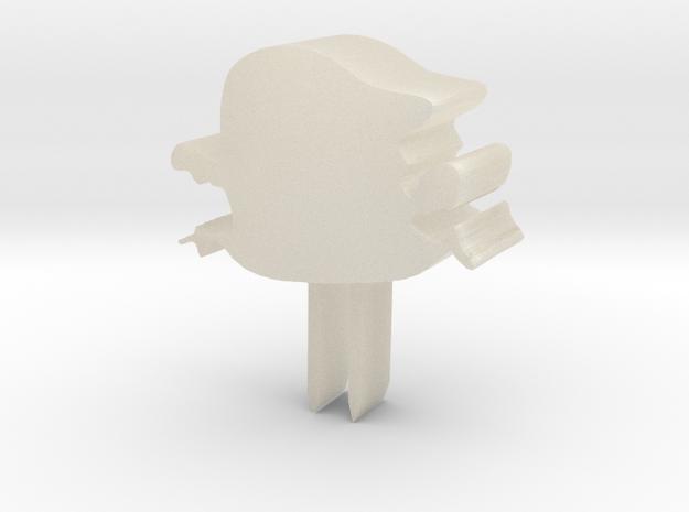 小怪獸牙籤 in White Acrylic