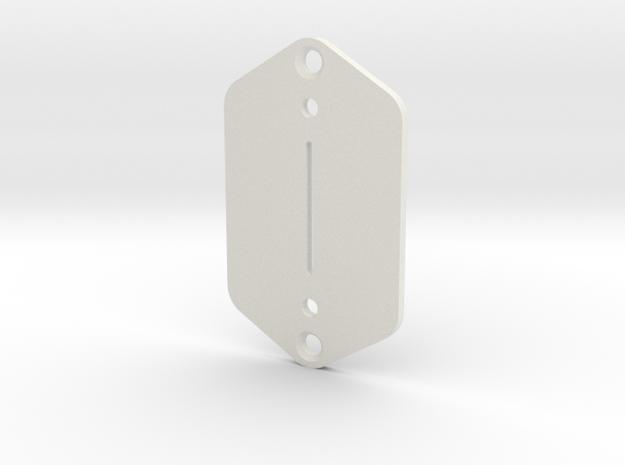 Jaguar Plate - Tele/Strat switch in White Natural Versatile Plastic
