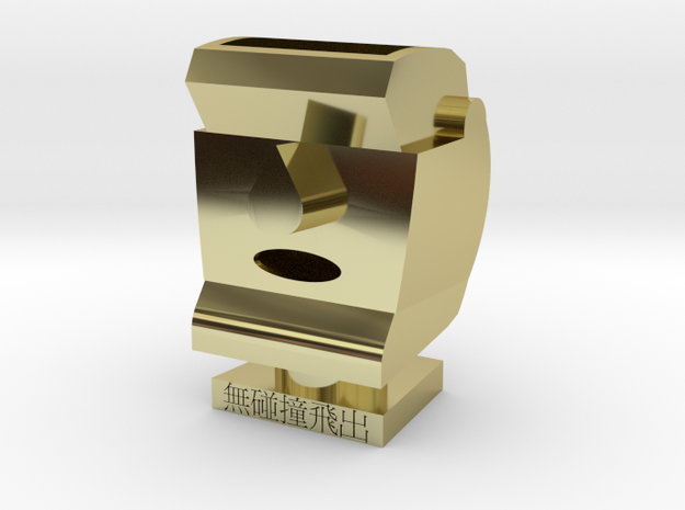 Easter Island Statue Tubular Container in 18k Gold Plated