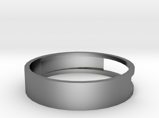 Open ring in Polished Silver