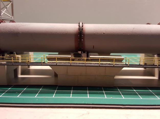 N Scale Rotary Kiln 27mm complete V5 in Smooth Fine Detail Plastic