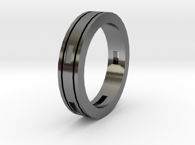 Ring blocks open in Polished Silver