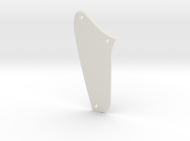 Jaguar Rhythm Circuit Control Plate - Blank Bevel in White Natural Versatile Plastic