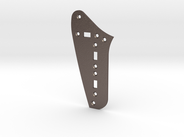 Jaguar Rhythm Circuit Plate - 3 On/Off switches in Polished Bronzed Silver Steel