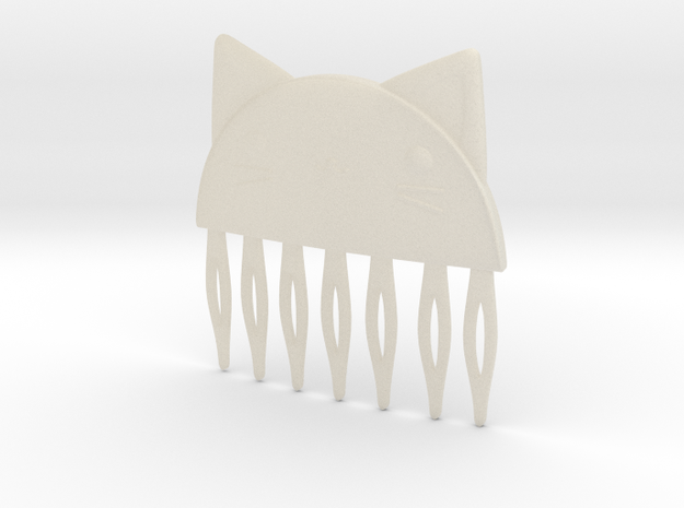 Cat Comb in White Acrylic