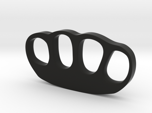 Knuckle Duster Ornament Paper Weight - With Custom in Black Strong & Flexible