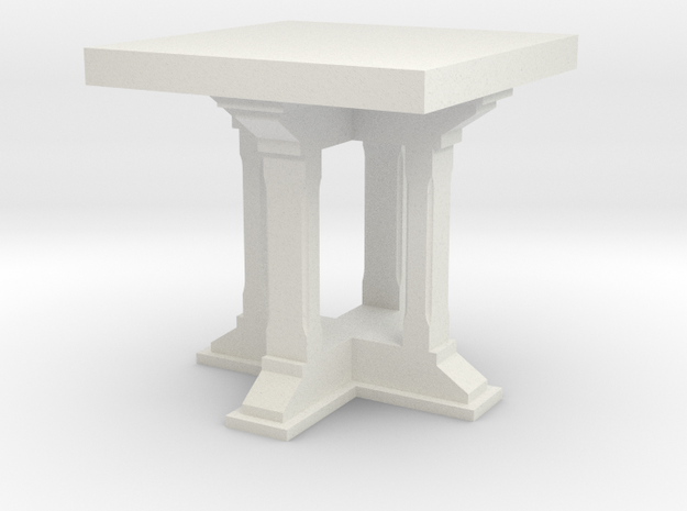 1:24 Side Table in White Natural Versatile Plastic