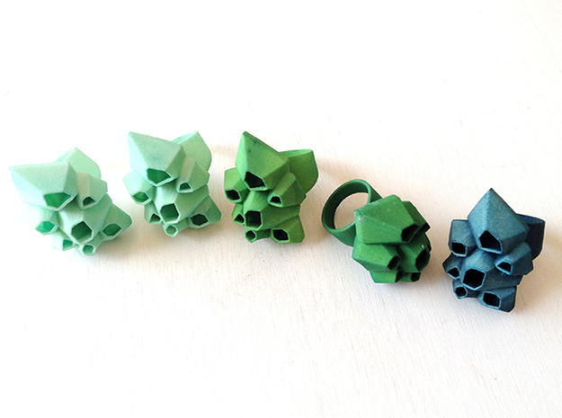 Picoroco Ring - Sz 7 3d printed Barnacle Rings in custom colors