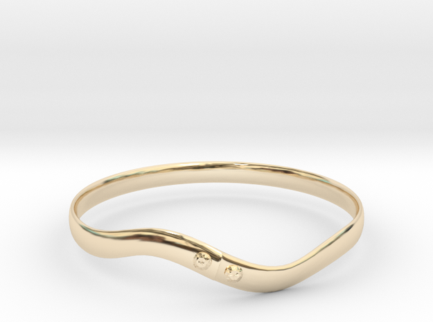 Torsion ring(Japan 10,USA 5.5,Britain K)  in 14K Yellow Gold