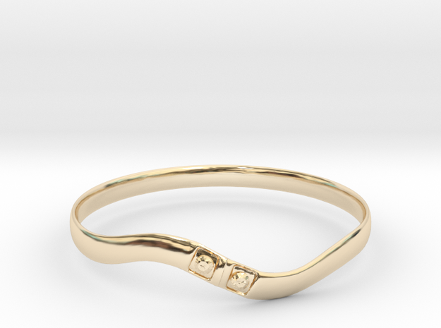 Torsion ring type2(Japan 10,USA 5.5,Britain K)  in 14K Yellow Gold