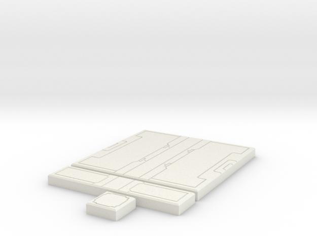 SciFi Tile 20 - Starship Corridor in White Strong & Flexible