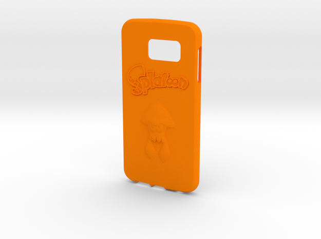 Splatoon Galaxy S6 Case in Orange Strong & Flexible Polished