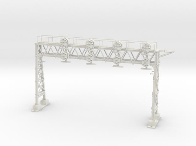 HO Scale PRR W-signal LATTICE 4 Track in White Natural Versatile Plastic