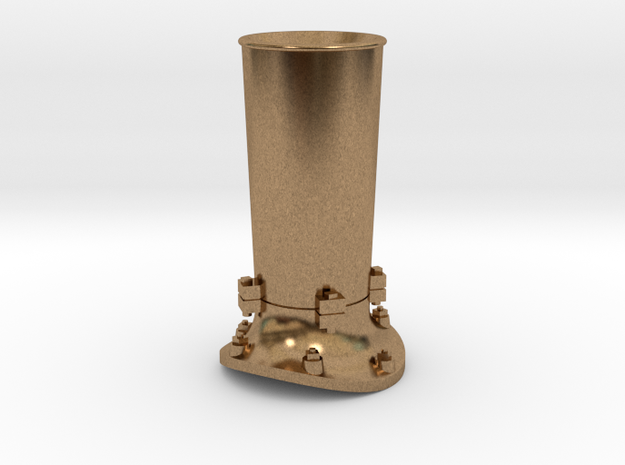 Steam locomotive smoke stack - S scale in Raw Brass