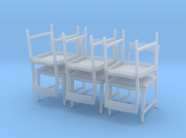 1:48 Danish Modern Chair Set in Frosted Ultra Detail