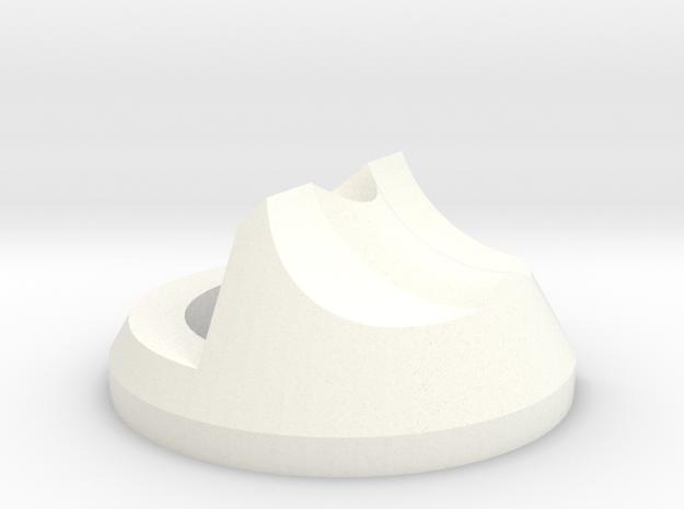 Left Filament Guide - Threaded in White Processed Versatile Plastic