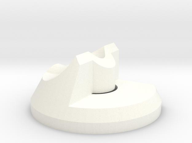 Right Filament Guide - Rep2X in White Processed Versatile Plastic