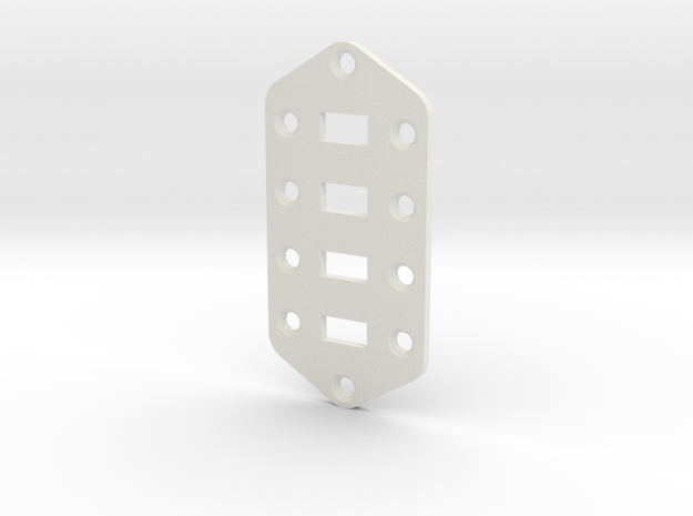 Bass VI Switch Plate in White Natural Versatile Plastic