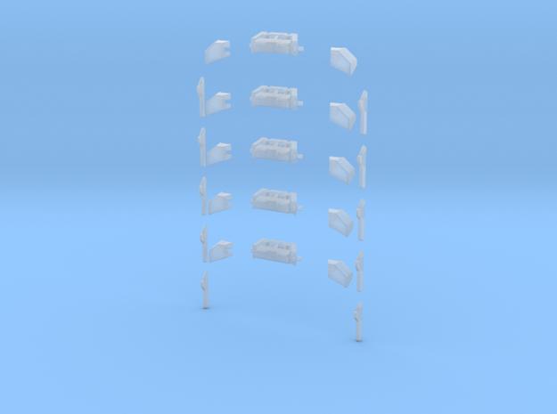 Balken Lentner mit Horn 5x.stl in Smooth Fine Detail Plastic