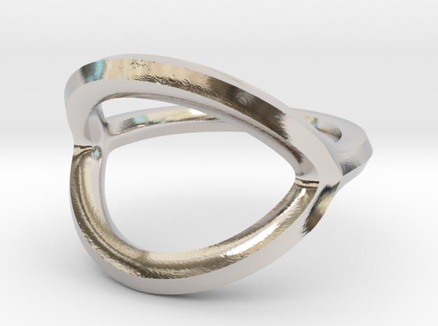 Arched Eye Ring Size 5.5 in Platinum