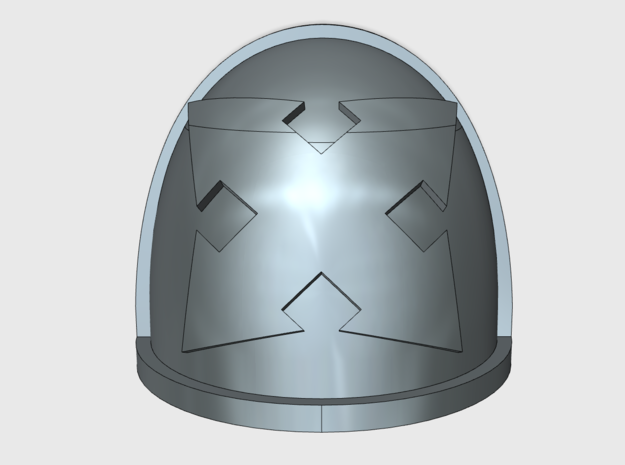 10x Assault 01 - G:4a Shoulder Pad in Smooth Fine Detail Plastic