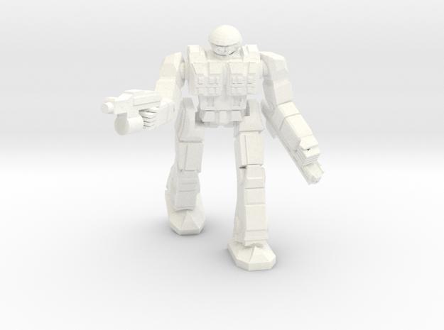 Celt Pose 1 in White Processed Versatile Plastic