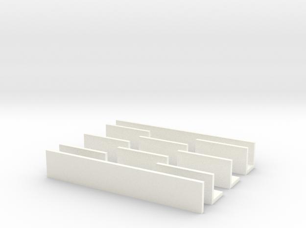 Straight Razor Holder 7 in White Processed Versatile Plastic