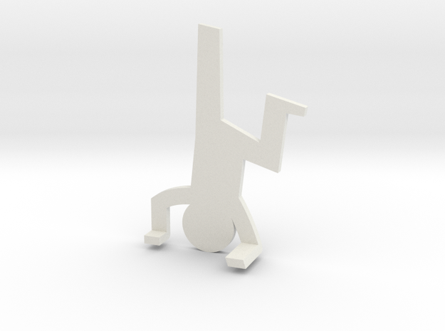 Climbing guy funny in White Natural Versatile Plastic