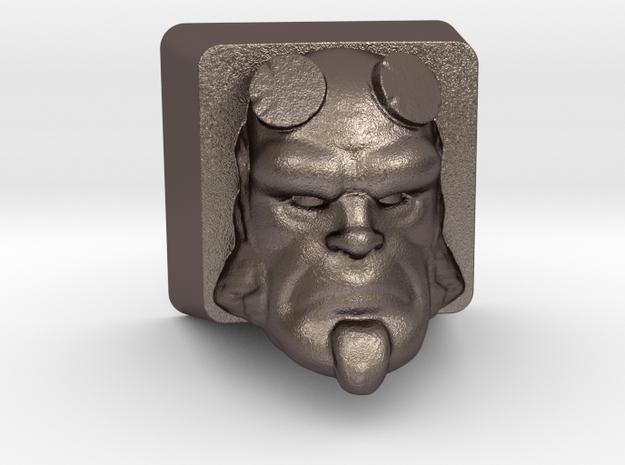 Cherry MX HellBoy Head Keycap in Polished Bronzed Silver Steel