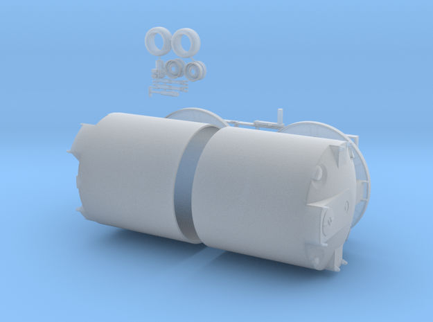 1/64 Cone Bottom trailer 2 X 2500 gal in Smooth Fine Detail Plastic