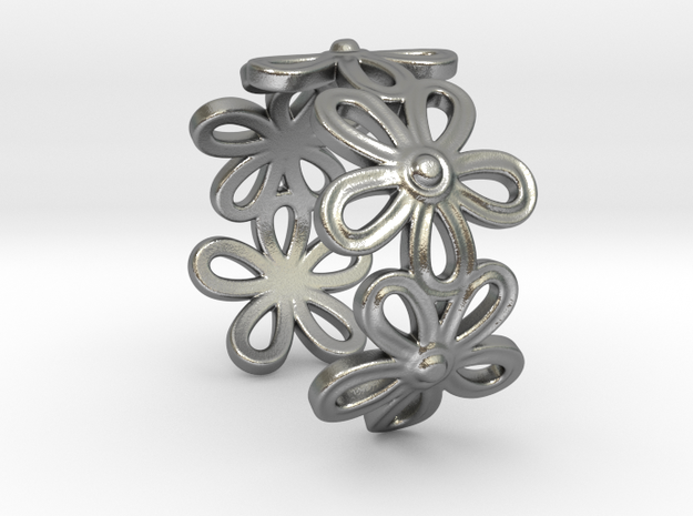 DaisyRing in Natural Silver