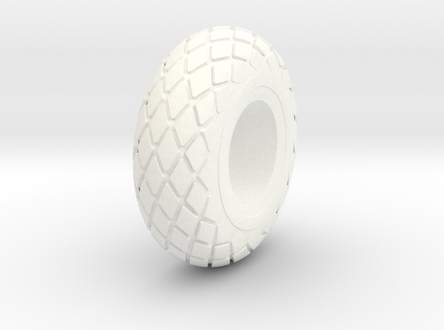 Baloon Tire For Charlie in White Processed Versatile Plastic