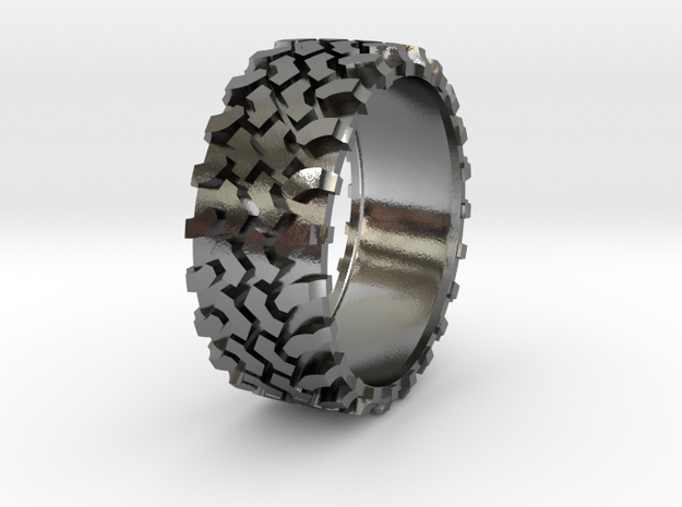 4x4 All road ring  in Polished Silver