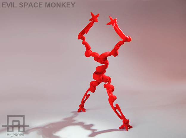 EVIL SPACE MONKEY 3d printed