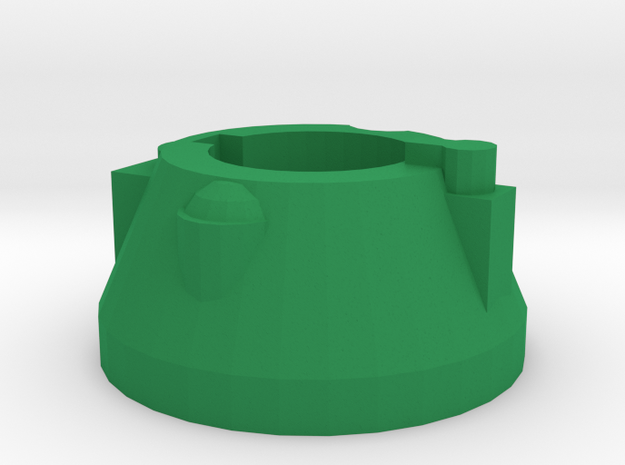 Blaster Rear Cap in Green Processed Versatile Plastic