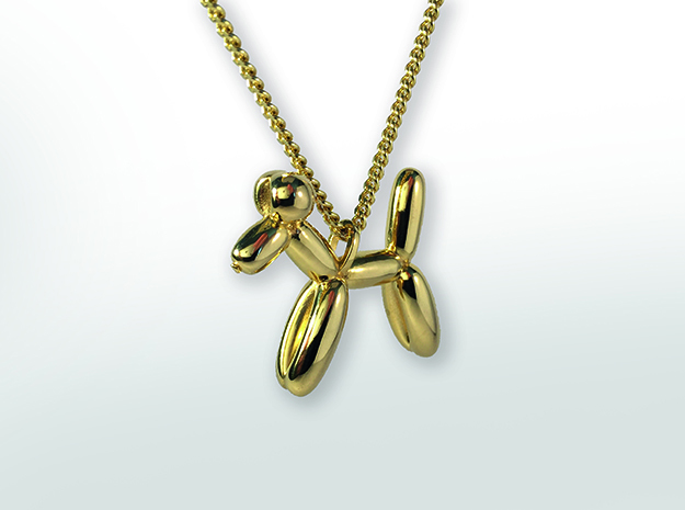Balloon Dog in Polished Brass