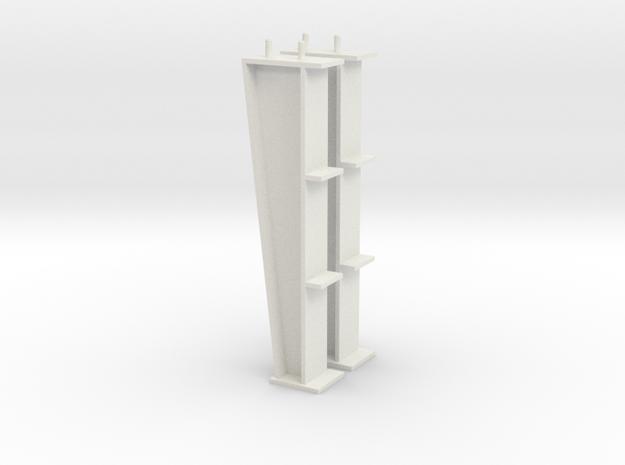1/64 15ft I-beam Post in White Natural Versatile Plastic