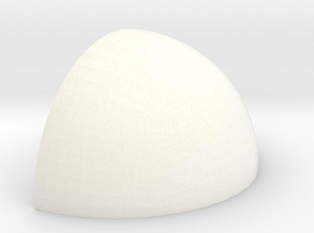 Halfhalve in White Processed Versatile Plastic