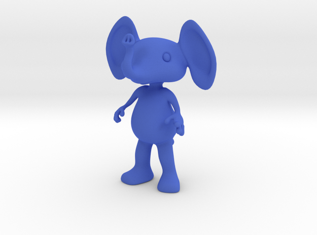 Tiny Elephant in Blue Processed Versatile Plastic