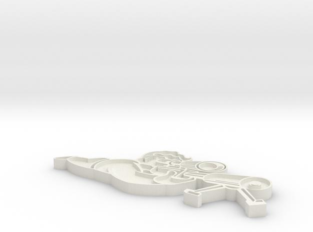 Sniper Pin - Fallout 4 in White Natural Versatile Plastic