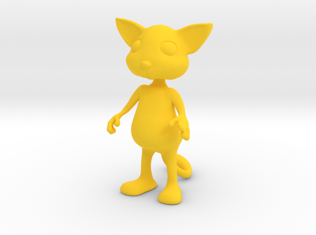 Tiny Cat in Yellow Processed Versatile Plastic