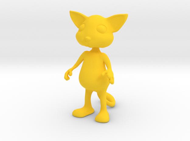 Tiny Cat in Yellow Processed Versatile Plastic