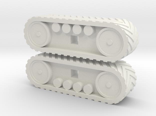 1:160/N-Scale Tracks in White Natural Versatile Plastic